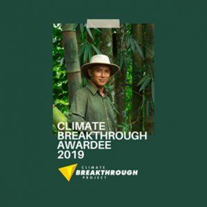 arief rabik the climate breakthrough awardee 2019